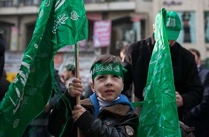 Hamas rally in Nablus (Photo: Ohad Zwigenberg)