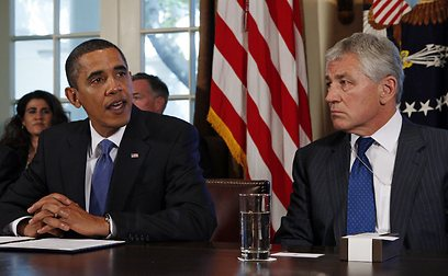 About-face. Obama and Hagel (Photo: Reuters)
