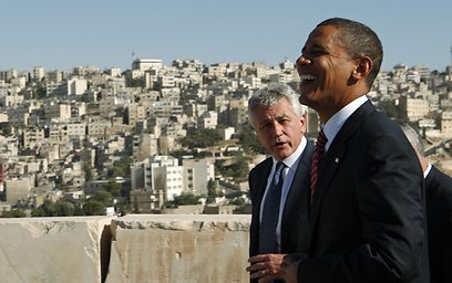 Hagel and Obama (Archive photo: Reuters)
