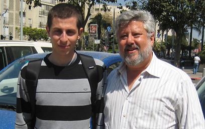 Baskin with Shalit (Photo courtesy of Gershon Baskin)