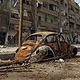 Daraya in ruins Photo: Reuters