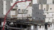Settlement construction in Jerusalem Photo: AFP