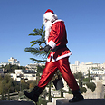 Santa Claus in Jerusalem Photo: AFP