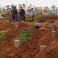 Makeshift rebel graveyard Photo: Reuters