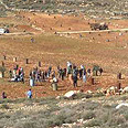 Clashes between settlers, Palestinians, IDF near Yitzhar Photo: Tazpit News Agency