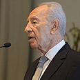 Peres. 'We are willing to talk to Hamas, but they aren't' Photo: Mark Neiman, GPO