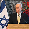 Ringing the bells. Peres Photo: Ohad Zwigenberg