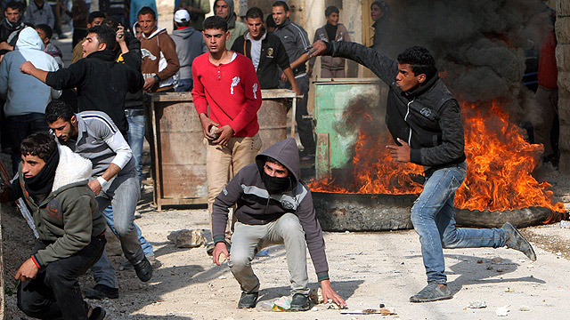 Riot near Jenin (Photo: AP)