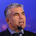 Lapid: Yesh Atid will not be a fig leaf Photo: Yaron Brener