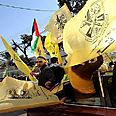 Fatah supporters in Gaza Photo: EPA