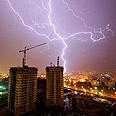 Storm in Tel Aviv Photo: Or Menny