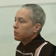 Michal Aloni. Today in court Photo: Benny Deutsch