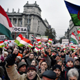Protest against anti-Semitism, Hungary Photo: EPA