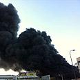 The fire Photo: Shay Yitzhaki