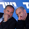 Benjamin Netanyahu and Avigdor Lieberman Photo: EPA