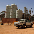 Facility where hundreds of workers were kidnapped Photo: AFP