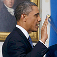 Obama sworn in Photo: Reuters