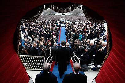 אובמה בפני האומה (צילום: AP)