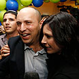 Bennett at Habayit Hayehudi HQ Photo: Reuters