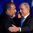 Netanyahu and Lieberman Photo: EPA