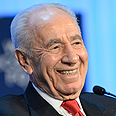 Peres at Davos Photo: EPA