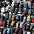 Mass prayer at Tahrir Square Photo: AFP