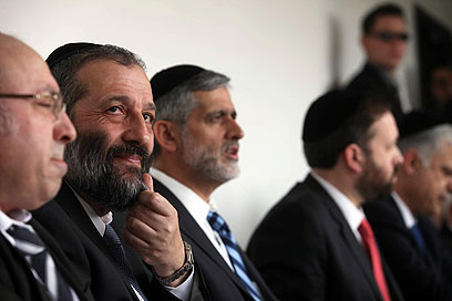Shas party convention (Photo: Gil Yochanan)