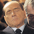 Berlusconi at Shoah Day ceremony Photo: AP