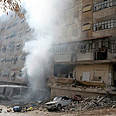 Bombing of rebel stronghold in Damascus