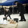 Placing foundation-stone of a new synagogue in Csepel Photo: AFP