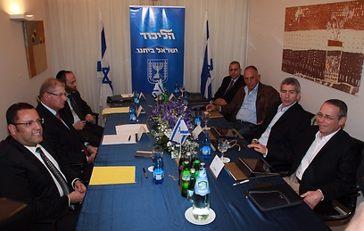 Likud, Yesh Atid negotiation teams (Photo: Moti Kimchi) (Photo: Moti Kimchi)