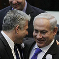 Netanyahu and Lapid Photo: Gil Yohanan