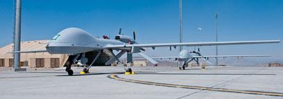 """מל""""ט מסוג """"גריי איגל"""" באפגניסטן (צילום: AFP)"""