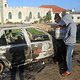 Cars torched in Kusra Photo: Panet website