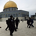 Police at Temple Mount Photo: Reuters