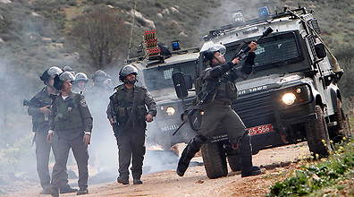 Soldiers near Nablus (Photo: Reuters)
