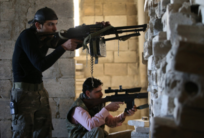 Rebels in Aleppo, Syria (Photo: AP)