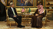 US Secretary of State Kerry with Saudi's Foreign Minister Saud bin Faisal in Riyadh.
