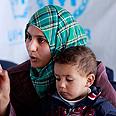 Syrian women who fled with son to Lebanon Photo: AP