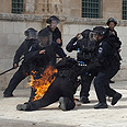 Last week's clashes in Temple Mount Photo: AFP