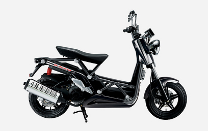 קטנוע מוזר בשם B-bone - שלדה, בלי פלסטיקה ()