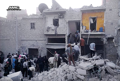 Devastation in Aleppo after bombing (Photo: AP)