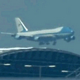 Air Force One, after takeoff Photo: Reuters