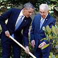 Planting seedling with Peres Photo: Reuters
