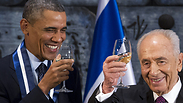 President Shimon Peres with US President Barack Obama Photo: AFP