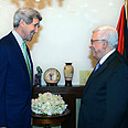 Kerry (L) and Abbas (archives) Photo: EPA