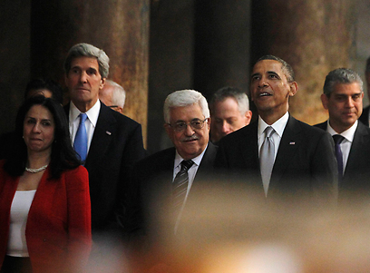 President Barack Obama, John Kerry, and Presdint Abbas (Photo: Reuters)