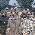 Prisoners in Dachau after liberation