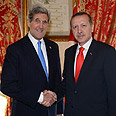 Erdogan and Kerry Photo: Reuters