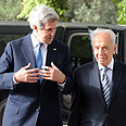 Kerry with Peres Photo: Gettyimages